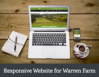 New Responsive Website for Warren Farm