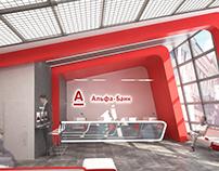 Alfa Bank office interior.