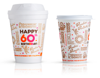 Dunkin' Donuts 60th Anniversary Cups