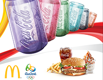 Radio Mc Donald's Coke Glass Rio Promotion