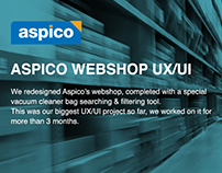 Aspico webshop UX/UI