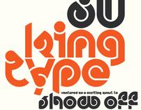 'New Deco' Font Design