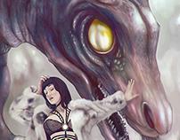 Girl and dragon