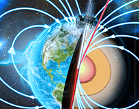 Earth Magnetic Fields Illustration