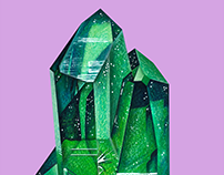 Emerald Mineral Drawing