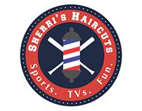 Sherri's Haircuts Logo Design