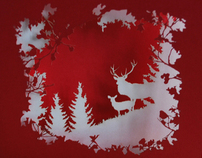 CutLaserCut Christmas Card