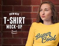 Female T-shirt Mock-up PSD