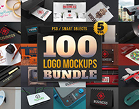 100 Logo Mockups Bundle Vol.5