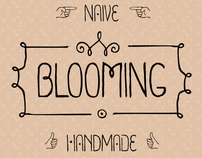 Blooming  font