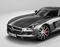 Mercedes-Benz SLS   Full CGI WORK
