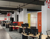 Office Fit Out 3d Visualisation