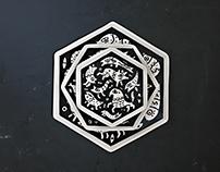 Hexagon // Ceramic Plates