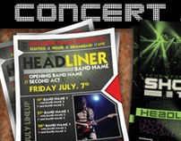Flyer Templates Set - Concert, Club, or Band