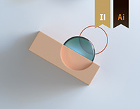 IAB UK - 3D Abstract Illustrations
