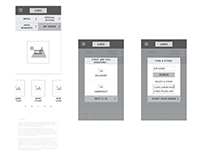 Papa John's Redesign: Mobile Wireframes