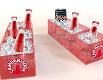 Campari Soda, digitalizzazione vassoio e lampada