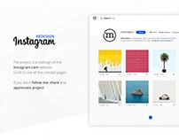 Instagram Website Redesign Concept