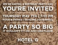 Hotel G Birthday Party Invitation