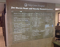 Jim Moran Heart and Vascular Research Institute Wall of