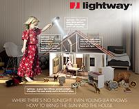 Lightway Advertisement for magazines, billboards