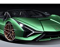 2020 Lamborghini Sian Roadster Lizard Green