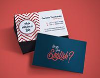 Business Card English Teacher