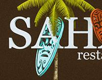 Poster for Sahara restaurant