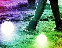 walking with lightings orbs
