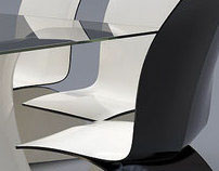 Wave set - chair and table