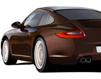 Porsche Promotional Illustrations