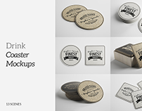 Drink/Beer Coaster Mockups