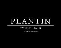 Plantin Type Specimen Booklet