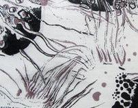 silkscreen fabric prints-organics