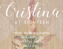 Cristina @18 Debut Invitations