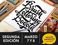 Taller de Brush Lettering en Bogotá, Colombia.