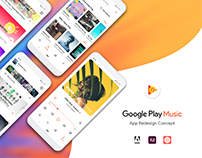Google Play Music - App Redesign Concept 2019