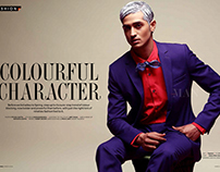 COLOURFUL CHARACTER, Editorial THE MAN, March 2016