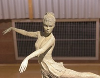 Dancer Sculptures in Bronze by SAVIO