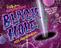BLACK HOLE TRAVEL POSTCARD