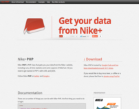 Nike+PHP website relaunch
