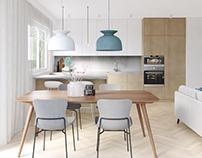 Concept of minimal interior design.