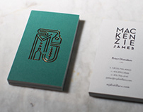 Mackenzie James Distillers - branding and card design