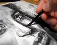 Ink Wash - Portraits