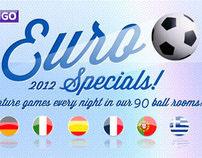 Sky Bingo banner design to promote Euro 2012