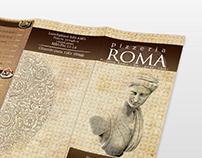 Menu leaflet for ROMA restaurant