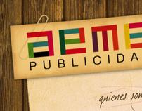 Diseño web para AEME Publicidad