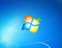 Microsoft Windows 7 Default Desktop, Login, & Packaging