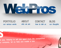 WebPros Website Layout