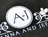 Anna + Jeff Letterpress Wedding Invitations